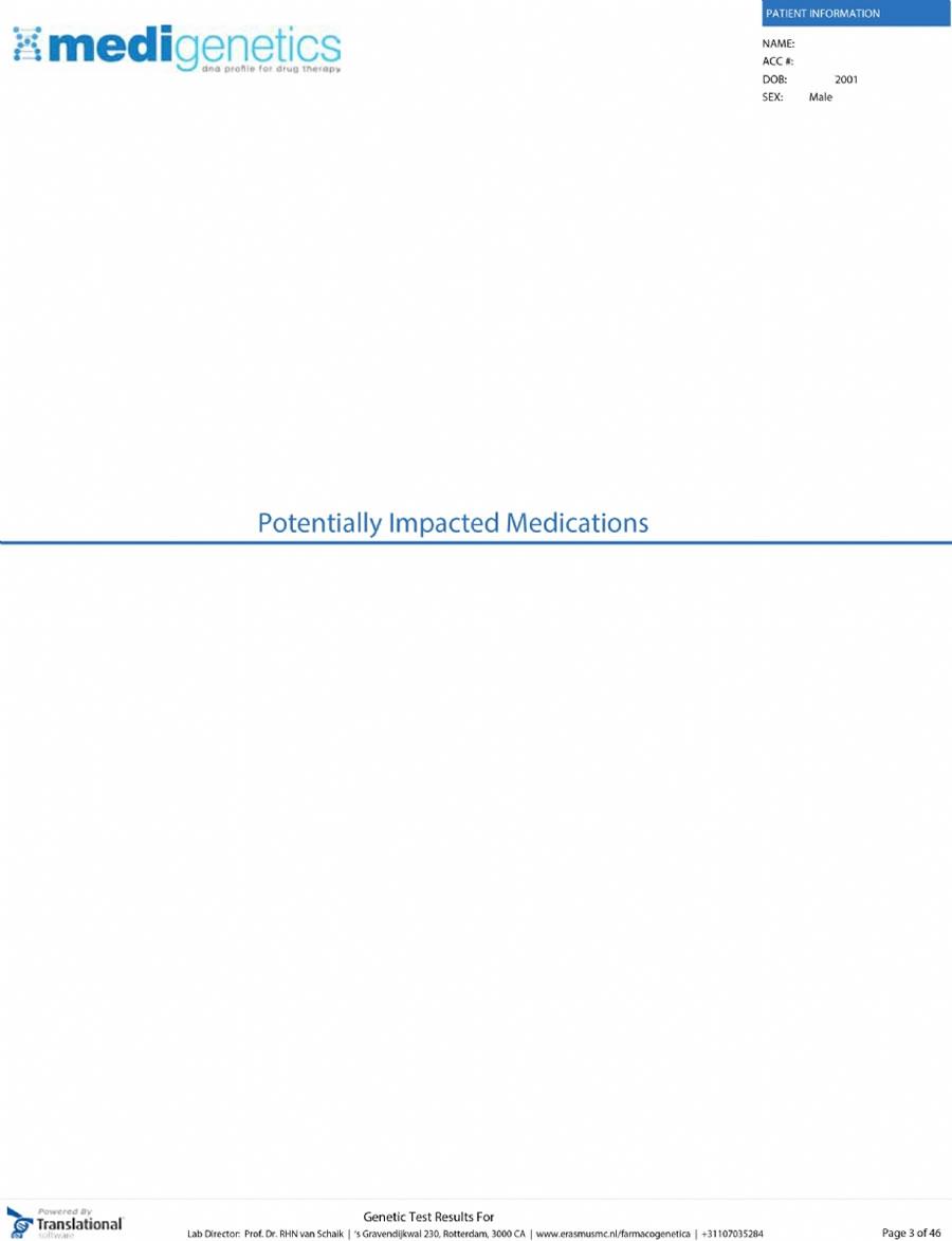 Farmakogenetik Örnek Rapor - FARMAKOGENETİK DNA PANELİ - Biruni Laboratuvarı - 0850 241 77 88